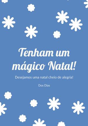 Tenham um <BR>mágico Natal! Cartão de Natal