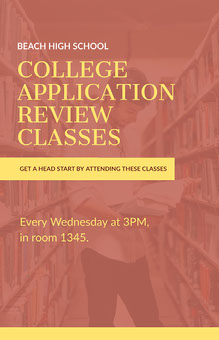 College Application Classes Poster School Posters