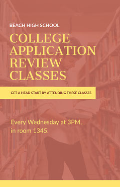 College Application Classes Poster College