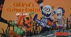 Colorful, Cartoon Style Halloween Costume Contest Event Facebook Banner Contest