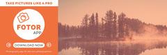 Orange With Lake View Application Banner Lake