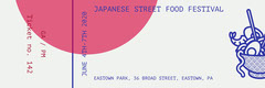 White Pink and Violet Japanese Street Food Festival Ticket Event Ticket
