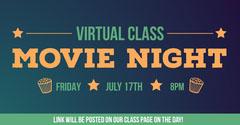 Orange & Green Gradient Movie Night Facebook Post Movie Night Flyer