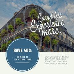 Light Toned Travel Sale Ad Instagram Post Hotels