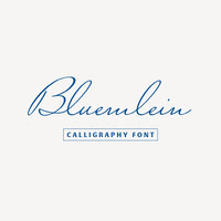 Bluemlein Script Font YouTube Logo