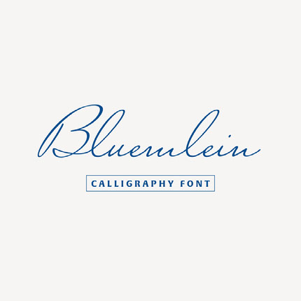 Blue Calligraphy Font Logo Brand Square Graphic Ideas de logotipos
