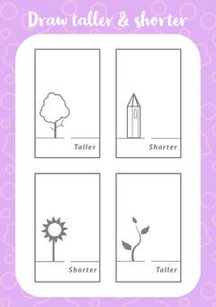Draw taller and shorter Kids