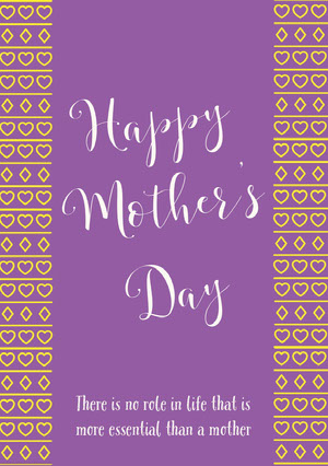 Violet and White Happy Mother's Day Card Mother's Day Messages