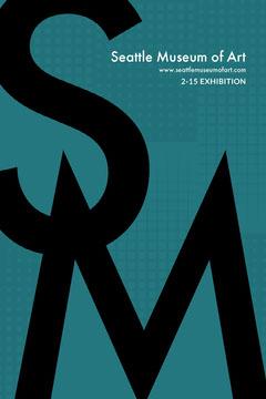 Turquoise Typographic Art Museum Exhibition Pinterest Poster Ad Exhibition