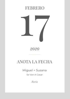 minimal save the date card  Tarjeta para guardar la fecha