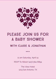 Please Join Us For A Baby Shower
