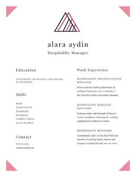 Modern Manager Resume Curriculum moderno
