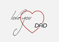 Red Heart I Love You Dad Card Family