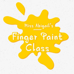 Yellow and White Splatter My Fingers Are My Paint Brushes Instagram Square Teacher