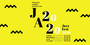 Yellow Zig Zag Jazz Music Festival Eventbrite Banner Music Banner