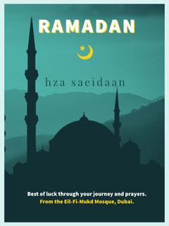 Blue and Black Ramadan Poster Religion