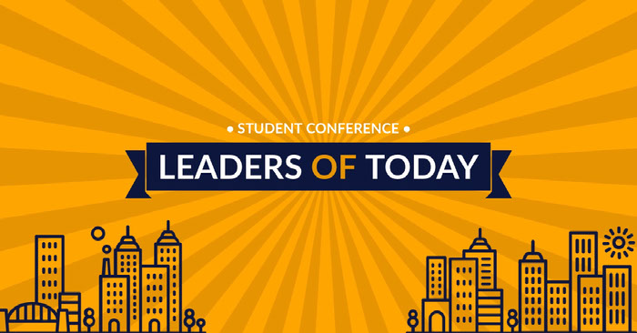 Yellow and Blue Student Conference Facebook Banner Banner Ideas