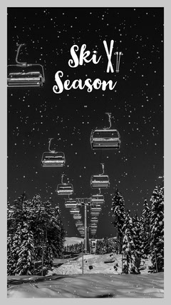 Black and White Ski Snow Iphone Wallpaper Background