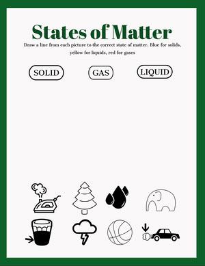 Green State of Matter Worksheet State of Matter Worksheet
