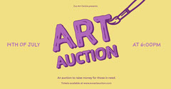 Purple & Yellow Art Auction Facebook Post Fundraiser