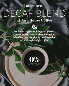 New Coffee Blend Cafe Instagram Portrait Ad With Coffee Cup Coffee