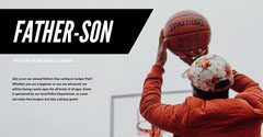 Light Toned Father Son Sport Event Facebook Banner Event Banner