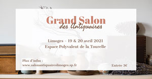 Brown and White Antiques Fair Facebook Post   Bannière