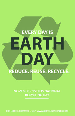 Green, Symbolic Earth Day Poster Earth