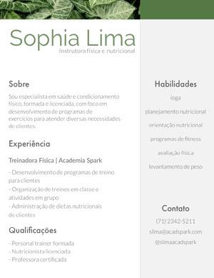 Sophia Lima Currículo