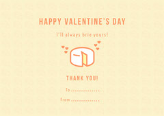 Yellow Cheese Pun Valentine's Day Card Cheese