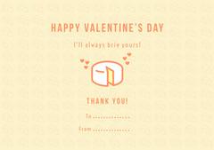 Yellow Cheese Pun Valentine's Day Card Valentine's Day