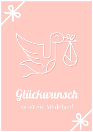 it's a girl congratulations cards Glückwunschkarte