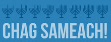 Blue Jewish Greeting Chag Sameach Facebook Profile Cover Portada de Facebook