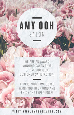 Pink and White Hair Salon Poster Beauty Salon