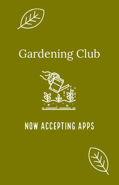 White and Green Gardening Club Flyer Garden