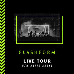 Black and Neon Green Chevron Instagram square  Band