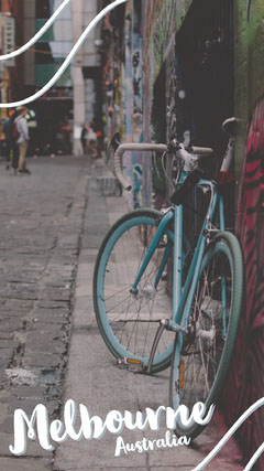 Melbourne Australia Bicycle Street Snapchat Geofilter Bike