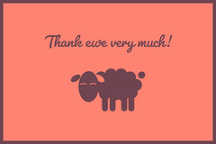 Orange Sheep Pun Thank You Postcard Thank You Poster