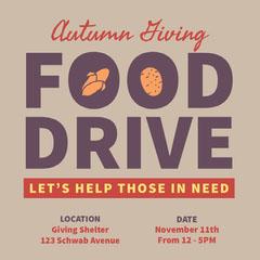 FOOD <BR>DRIVE Fall