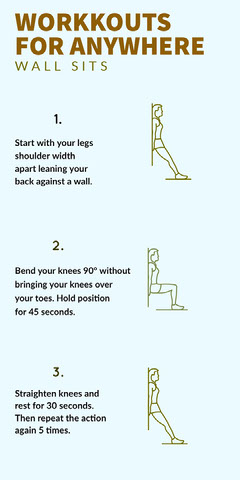 Illustrated Exercise Workout and Sport Infographic Workout