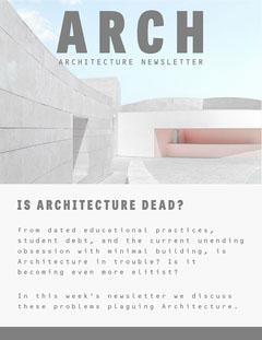Grey Architecture Newsletter Architecture