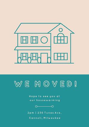 WE MOVED! Housewarming Invitation