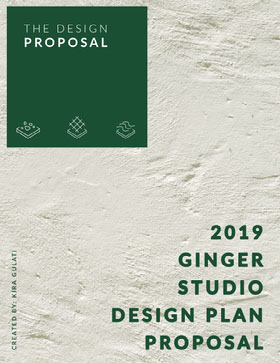 White and Green Design Studio Business Proposal Forslag