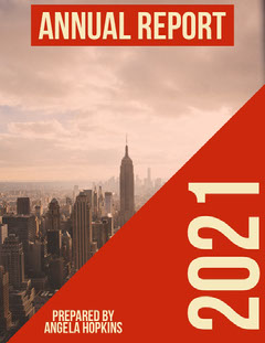 Red City and Skyscrapers Annual Business Report Architecture