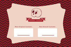 Spooky Season Skull Halloween Party Costume Card Halloween Costume Contest