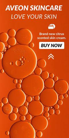 Orange and White Aveon Skincare Advertisement Cosmetic
