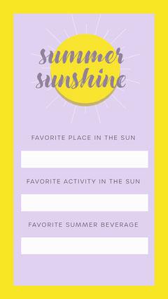 summer sun Instagram story Sun