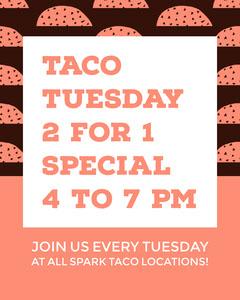 Orange Illustrated Mexican Food Restaurant Taco Flyer Ad Food Flyer