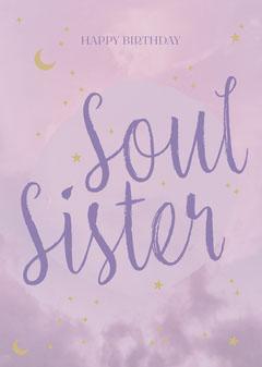 Soul Sister Card Sky