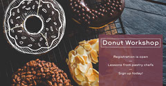 Baking Course Facebook Post Ad with Donuts Donut